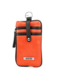 Kenneth Cole Reaction Must Haves Leather Snap Tab Card Case Electric Coral