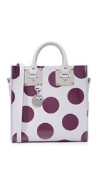 Sophie Hulme Square Tote Light Grey Plum