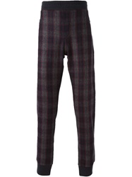Lanvin Checked Panel Track Pants Blue