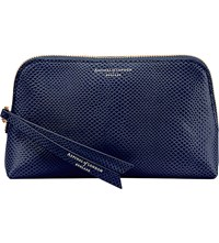 Aspinal Of London Essential Leather Cosmetic Case Blue