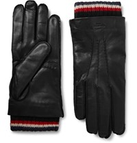 Thom Browne Tho Cashere Tried Leather Gloves Black