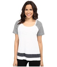 Splendid Slub Heather Jersey Mix Tee Paper Women's T Shirt White