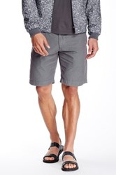 Save Khaki 2 Color Stripe Bermuda Short Metallic