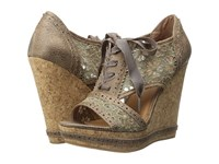 Not Rated Catalonia Taupe Women's Wedge Shoes