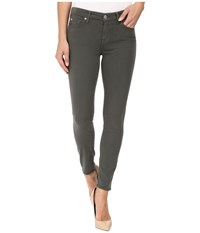 7 For All Mankind The Ankle Skinny W Contour Waist Band In Olive Olive Women's Jeans