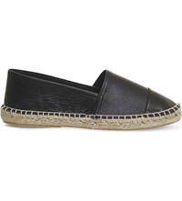 Office Lucky Leather Espadrilles Black Leather