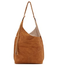 Ella Moss Skylar Leather Hobo Bag Whiskey