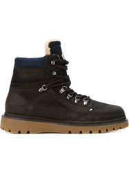Moncler Classic Hiking Boots Brown