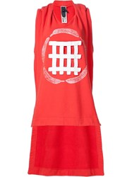 Bernhard Willhelm Sleeveless Sweatshirt Red