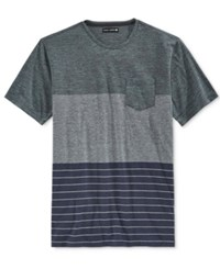 Ocean Current Men's Tyrelle Pieced Colorblocked Pocket T Shirt Indigo