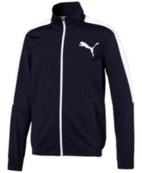 Puma Men's Contrast Zippered Track Jacket Navy White