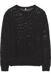 R 13 Cotton Mesh Sweatshirt Black