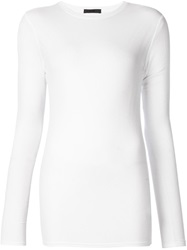 Atm Ribbed Long Sleeve T Shirt White