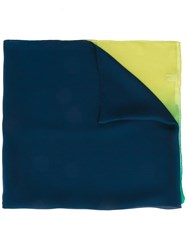 Salvatore Ferragamo Sheer Colour Drained Scarf Blue