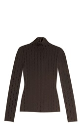 Alexander Wang Open Knit Sweater Black