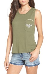 Billabong Women's 'On Your Doorstep' Thermal Muscle Tank Moss