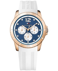 Tommy Hilfiger Women's Everyday Sport White Rubber Strap Watch 38Mm 1781582 No Color