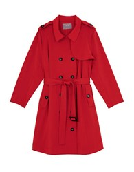 Melissa Mccarthy Seven7 Plus Double Breasted Trenchcoat Lolipop Red