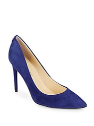 Ivanka Trump Suede Pumps Blue