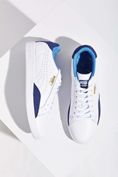 Puma Match Leather Low Top Basic Sport Sneaker Navy