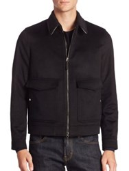Burberry Wool Aviator Jacket Black