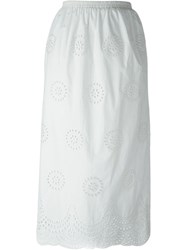 Red Valentino Broderie Anglaise Skirt White