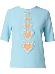 Christopher Kane Macrame Heart Blouse Blue