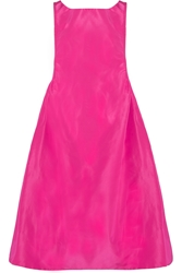 Rochas Ruched Faille Dress