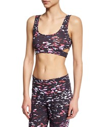 Varley Montana Tiger Lily Printed Sports Bra Women's Size X Small 2 4 Tiger Lilly