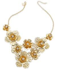 Thalia Sodi Gold Tone Crystal Flower Bib Necklace Only At Macy's
