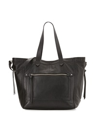 Isabella Fiore Plains Leather Tote Bag Black