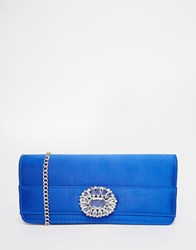 Carvela Jewelled Envelope Clutch Bag Blue