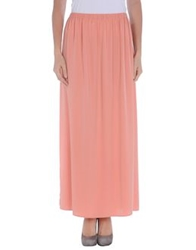 Space Style Concept Long Skirts Salmon Pink
