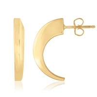 Marshelly's Jewelry Arc Tusk Earrings18k Gold Plated Polish