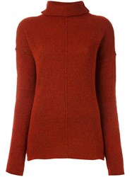 Forte Forte Turtleneck Jumper Red