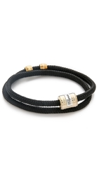 Miansai Casing Rope Wrap Bracelet Solid Black