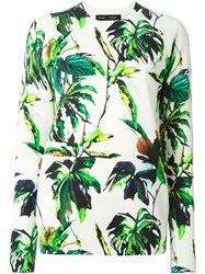 Proenza Schouler Floral Print Sweater Nude And Neutrals