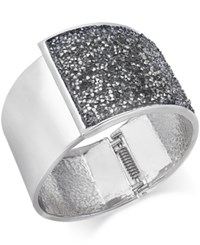 Inc International Concepts Gold Tone And Jet Glitter Hinge Bracelet Only At Macy's