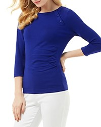 Phase Eight Bianka Button Knit Sweater Cobalt