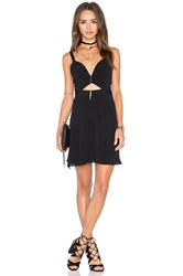 Nbd X Naven Twins Alright Sweetheart Fit And Flare Dress Black