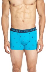 Polo Ralph Lauren Men's Stretch Cotton Boxer Briefs Malibu Blue Cruise Navy