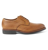 Grenson Liam Pebble Grain Leather Derby Shoes Brown