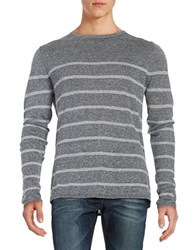 Strellson Striped Knit Sweater Grey