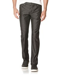 Perry Ellis Slim Fit Textured Dot Jeans Dark Shadow