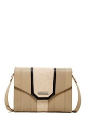 Treesje Madison Leather Crossbody Beige