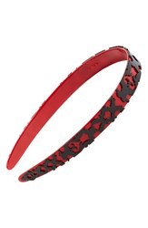 L. Erickson 'Layered Lace' Headband Red Red Black