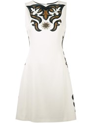 Fausto Puglisi Printed A Line Dress White
