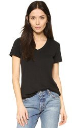 Cotton Citizen The Mykonos V Neck Tee Jet Black