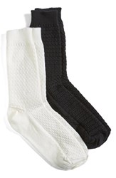 Wigwam Women's Merino Wool Blend Crew Socks Black Natural