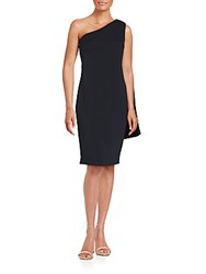 Carmen Marc Valvo Infusion Asymmetrical Solid Dress Red